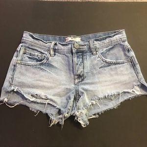 Free People Raw Hem Distress Grunge Cut Off Shorts